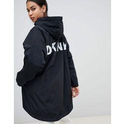 f2b9eb94bc463 reversible logo hooded jacket - black marki Dkny