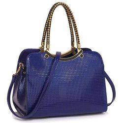 288a307c7993b Wyjątkowa torebka damska lakierowana niebieska - niebieski