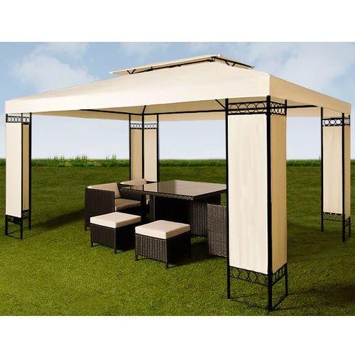 Pawilon 3x4 namiot ogrodowy stelaż metal kremowy marki