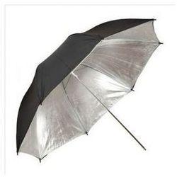 Parasolka srebrno-czarna 90cm
