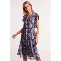 d207138b3b74ca Niebieska sukienka szyfonowa Arcadia, 1 rozmiar