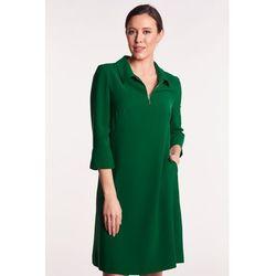 7eb806441e Vito vergelis Zielona sukienka z kołnierzykiem