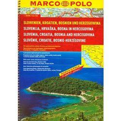 MP Słowenia, Chorwacja, Bośnia i Hercegowina atlas drogowy 1:300 000 (opr. broszurowa)