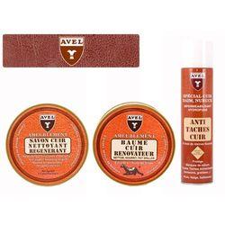 Zestaw do skórzenej tapicerki samochodowej (czyszczenie - pielęgnacja - konserwacja) - AVEL 3