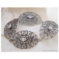 Moskwa - srebrna bransoleta z cyrkoniami, kolor szary