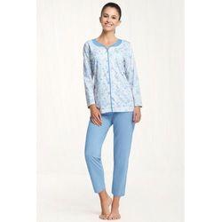 Bawełniana piżama damska 458 niebieska, Luna