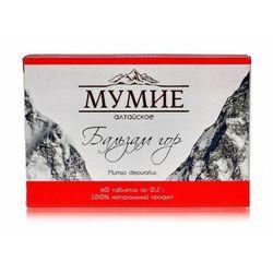 Mumio Oczyszczone Shilajit ałtajskie Balsam gór 60 tab 0,2g