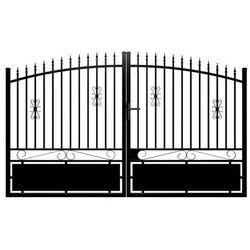 Brama wjazdowa rozwierna NERBIS z aluminium w kolorze czarnym – 300 × 160/180 cm (szer. × wys.)