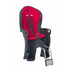 Fotelik rowerowy Hamax KISS czarny, czerwona wyściółka, 551043_HAM