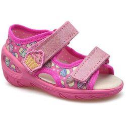 Sandałki dziecięce 065p136 wielokolor marki Befado