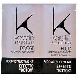 Edelstein KERATIN STRUCTURE RECONSTRUCTIVE KIT EFFETTO BOTOX Kuracja keratynowa na szybko z efektem botoksu