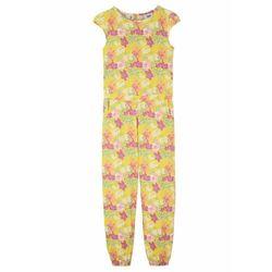 Bonprix Kombinezon dziewczęcy z dżerseju, bawełna organiczna kremowy żółty w kwiaty