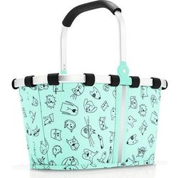 Reisenthel Koszyk carrybag xs turquoise cats and dogs miętowy (4012013701573)