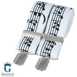 Szelki do spodni muzyczne nuty br-014 marki David aster - made in england