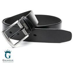 Miguel bellido Czarny pasek skórzany casual jeans 4750-40-5925-13