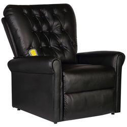 vidaXL Elektryczny fotel masujący z eko-skóry, regulowany, czarny Darmowa wysyłka i zwroty