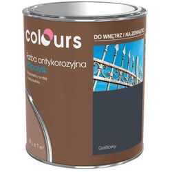 Farba antykorozyjna Colours grafitowa 0,7 l