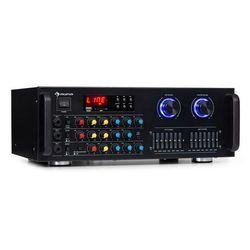 Auna Amp-Pro1 BT, wzmacniacz PA, 2 x 50 W RMS, BT, USB, SD, 2-kanałowy 7-pasmowy korektor