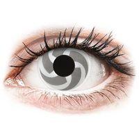 Soczewki kontaktowe, Soczewki kolorowe białe BLADE Crazy Lens 2 szt.