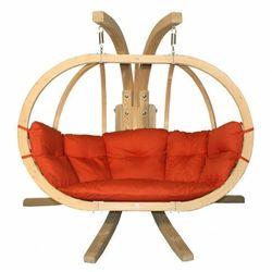 Czerwony fotel wiszący na taras - Parys 3X