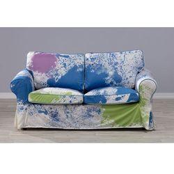 Dekoria Pokrowiec na sofę Ektorp 2-osobową, nierozkładaną kolorowe mazaje, Sofa Ektorp 2-osobowa