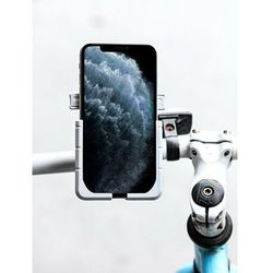Aluminiowy rowerowy motocyklowy na skuter hulajnogę uchwyt na telefon na lusterko czarny