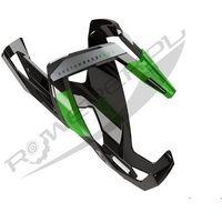 Bidony i koszyki, Koszyk na bidon ELITE Custom Race Plus czarny-zielony / Wykończenie: połysk