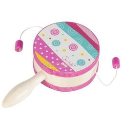 Bajkowy bębenek z rączką, zabawka muzyczna, Goki 61904
