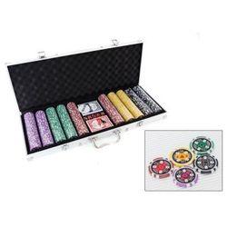 Zestaw do Pokera...: 500 Żetonów USD ($) + Kości + Karty + Walizka...