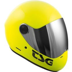 kask TSG - pass solid color (+ bonus visor) acid yellow (520) rozmiar: L