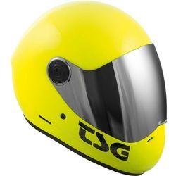 kask TSG - pass solid color (+ bonus visor) acid yellow (520) rozmiar: M