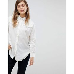 ASOS DESIGN Oversized Shirt in Casual Washed Twill - Cream
