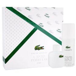 Lacoste Eau De Lacoste L.12.12 Blanc zestaw 50 ml Edt 50 ml + Dezodorant 150 ml dla mężczyzn