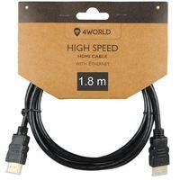 Kable video, 4world 4W Kabel HDMI High Speed z Ethernetem (v1.4), 10m