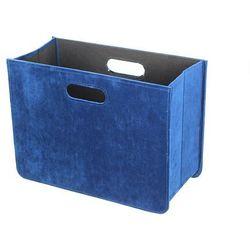 Dekoria Gazetnik Excelence blue wys.30,5cm, 40,5×19,5×30,5cm