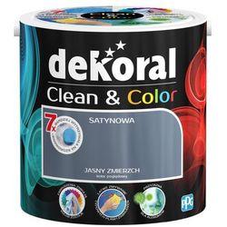 Satynowa farba lateksowa Dekoral Clean&Color jasny zmierzch 2 5 l