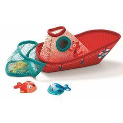 Zabawki do wody Lilliputiens - Łódka z neoprenu z rybkami L86773