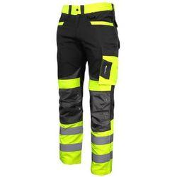 Lahti Pro Spodnie ostrzegawcze robocze do pasa żółte Slim Fit