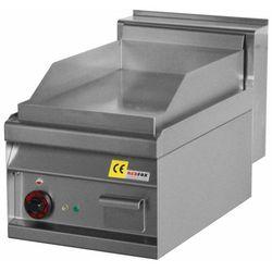 Płyta grillowa elektryczna | ryflowana chromowana |350x560mm | 4500W | 400x700x(H)290mm