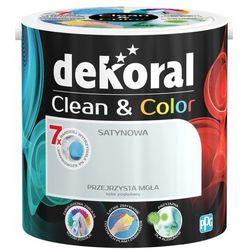 Satynowa farba lateksowa Dekoral Clean&Color przejrzysta mgła 2 5 l
