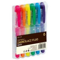 Pozostałe artykuły szkolne, Zakreślacz fluo GR-219. Komplet 6 kolorów.