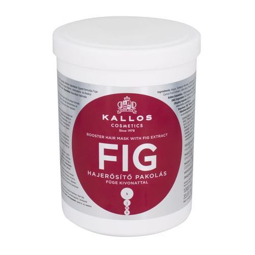Odżywianie włosów, Kallos maska do włosów wzmacniająca z wyciągiem z FIG - 1000 ml