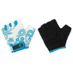 Rękawiczki dziecięce Accent Flowers Kids biało-niebieskie