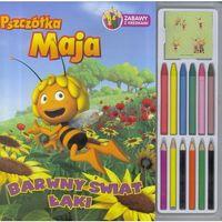 Książki dla dzieci, BARWNY ŚWIAT ŁĄKI ZABAWY Z KREDKAMI 12 KREDEK PSZCZÓŁKA MAJA (opr. broszurowa)