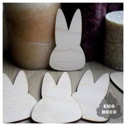 Drewniana dekoracja wielkanocna - głowa królika - GŁOZA Promocja Eko Deco - 03 (-15%)