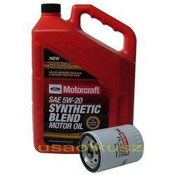 Oryginalny filtr oraz olej silnikowy Motorcraft 5W20 Mercury Sable 3,0 V6 OHV 1993-