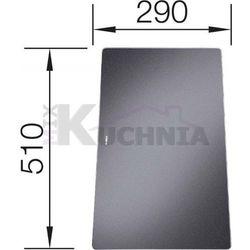 Deska BLANCO ze szkła hartowanego czarna 510x290mm (221450)