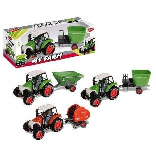 Jeżdżące dla dzieci, Traktor metalowy moje ranczo 30cm