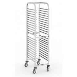 Wózek ze stali nierdzewnej na pojemniki gastronomiczne, 15 poziomów, GN 1/1, 1700x380x550 mm
