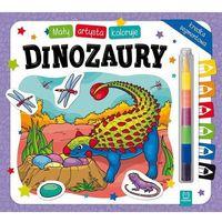 Książki dla dzieci, Mały artysta koloruje dinozaury (opr. miękka)